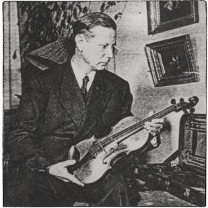 Onni Suhonen Amati-viulunsa kanssa Kuva-Postissa nro 1 1955.