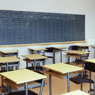 Koululuokka vuonna 1980