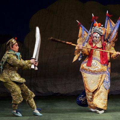 Akrobatiaa Peking-oopperassa