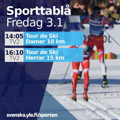 Tour de Ski-tablå 3.1.2020
