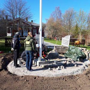 Stenläggning på Strömsö