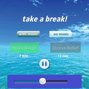 Skärmdump från medidationsapplikationen Take a Break