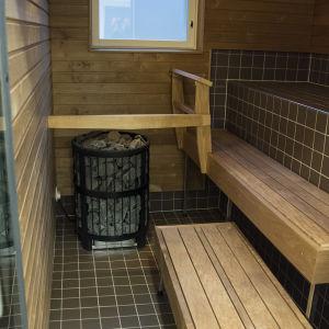Synnytysosaston sauna.