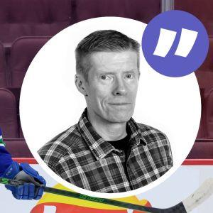Olli Juolevi till vänster, kommentarsbild på Anders Nordenswan till höger.
