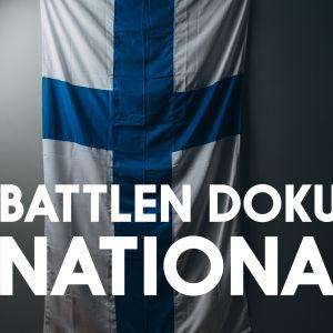 Suomen lippu ja teksti Battlen dokumentti: nationalismi
