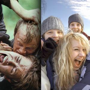 Kolme kuvaa, joista ensimmäinen Seitsemästä veljeksestä, toinen Nollatoleranssista ja kolmas Tuomas Murasen rikoksesta.