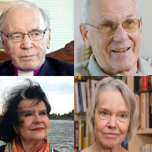 Bildcollage av John Vikström, Per-Erik Lönnfors, Birgitta Boucht, Christina Indrenius-Zalewski, Merete Mazzarella och Claes Olsson