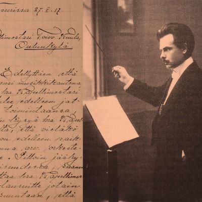 Kapellimestarikuva Toivo Kuulasta Oulun ajalta 1910-1911.