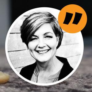 Maria Sundblom Lindbergs kommentarsbild med använd kondom på sidan.