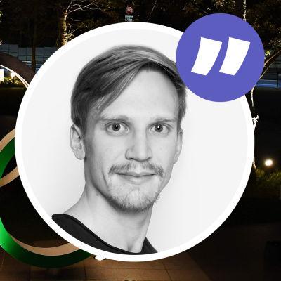 Mats Ahlnäs och olympiska ringar.