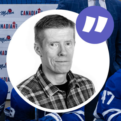 Anders Nordenswans kolumnbild med besvikna Toronto-spelare i bakgrunden.