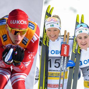 Aleksandr Boljsunov, Frida Karlsson, Ebba Andersson och Krista Pärmäkoski.