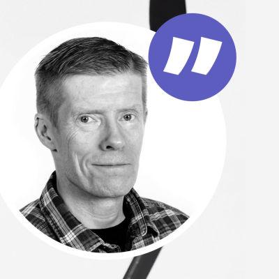 Joel Kiviranta och NHL-kolumnisten Anders Nordenswan