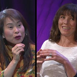 Kirjailijat Kim Thúy, Rachel Cusk ja André Aciman Helsinki Lit -kirjallisuusfestivaaleilla 2019