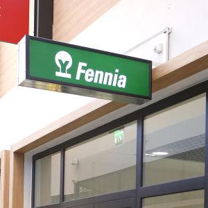 Försäkringsbolaget Fennias neonskylt