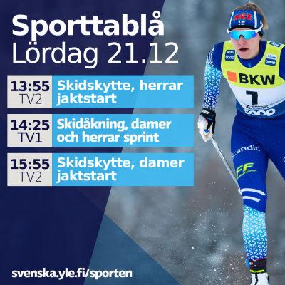 Katri Lylynperä i sprinten i Davos.