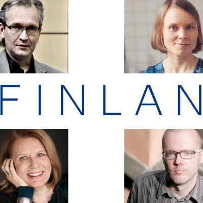 Asko Sahlberg, Anni Kytömäki,Miki Liukkonen, Heidi Köngäs, Jaakko Yli-Juonikkala ja Rosa Liksom
