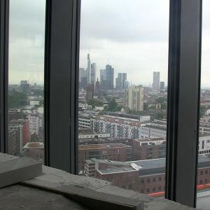 Utsikten från ECB:s skyskrapa är fantastisk.