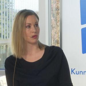 Vasemmiston kansanedustaja Hanna Sarkkinen Ylen Hyvin sanottu -keskustelussa Oulussa.