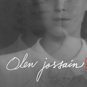 Vanha valokuva naisesta ja teksti: Olen jossain – Elämää muistisairauden kanssa
