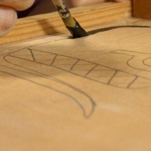 Närbild på pensel.