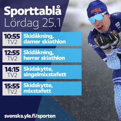 Lördagens sporttablå.