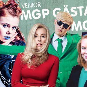 MGP 2017 Jury: Krista Siegfrids, Jakob Norrgård och Miira Holländer. Gästartist Venior