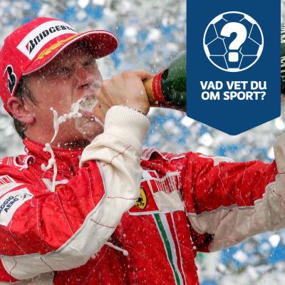 Kimi Räikkönen firar VM-titeln.