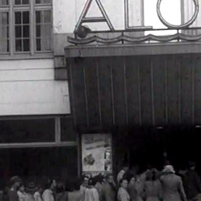 Tuulen viemää -elokuvan ensi-ilta Alohassa (1950).