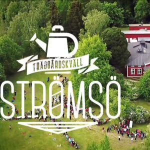 Villan på Strömsö med trädgårdskvällens logo