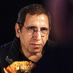 Iranilaisohjaaja Mohsen Makhmalbaf Sodankylän elokuvajuhlilla 2019.