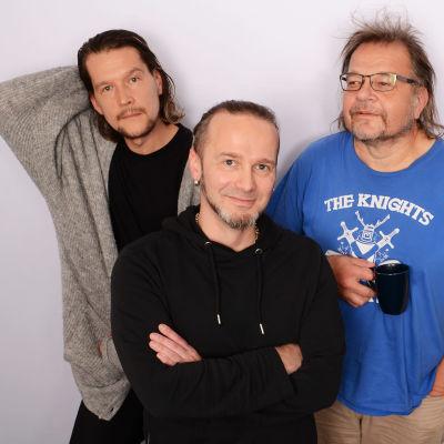 Arto Tuunela, Osku Ketola ja Kalevi Pollari puolilähikuvassa