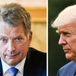 Finlands president Sauli Niinistö och USA:s president Donald Trump.