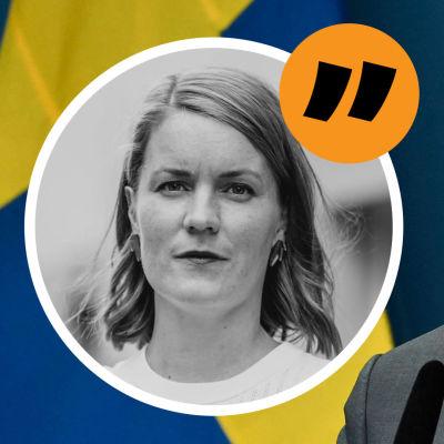 Marianne Sundholm och Stefan Löfven bildkollage
