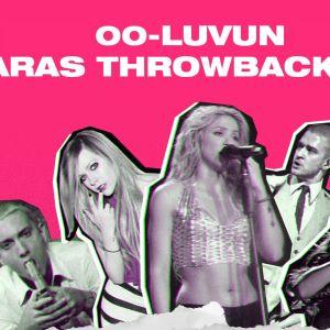 """Kuvassa teksti """"00-luvun paras Throwback-biisi"""" sekä kuvat Eminemistä, Avril Lavignesta, Shakirasta ja Rihannasta."""