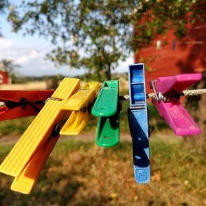 Bykpojkar i glada färger.