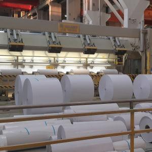 Pappersrullar i en av Stora Ensos fabriker.