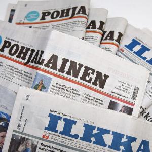 Dagstidningarna Pohjalainen och Ilkka.