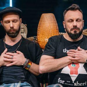 Tunna Milonoff ja Riku Rantala meditoivat