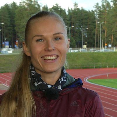 Ultralöparen Noora Honkala.