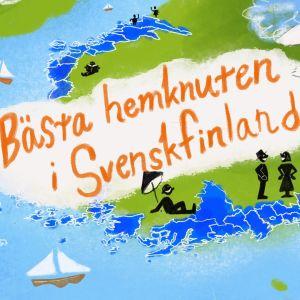 Kuvituskuva ruotsinkielisestä Suomesta.