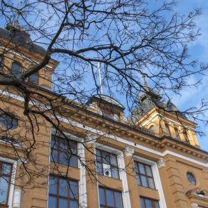 Oulun kaupungintalo helmikuussa