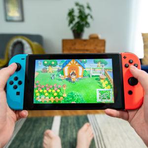 Animal Crossing pelin pelaamista.