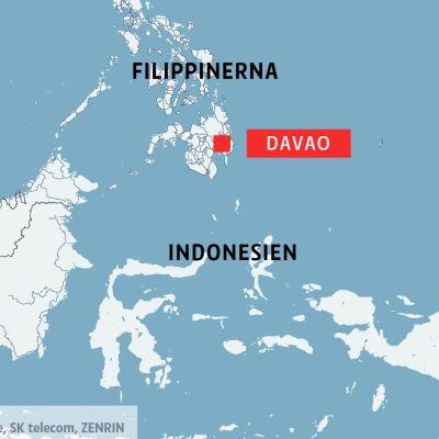 Karta över Filippinerna