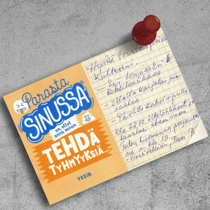 """Muistilappu, jossa lukee """"Hyvää torstaipäivää kultaseni...""""."""
