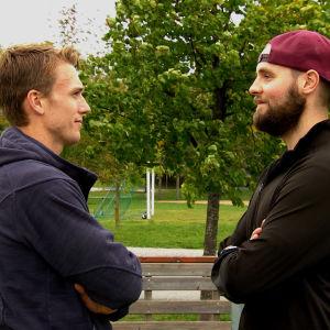 Henrik Haukeland och Rasmus Tirronen.