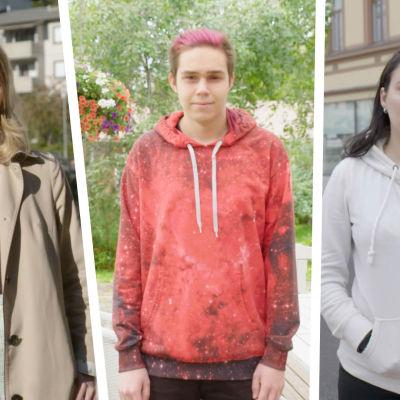 Kolme nuorta ilmastoaktivistia