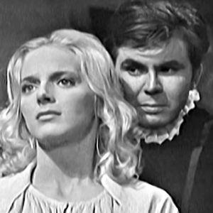 Algot Böstman som Daniel Hjort och Sara Arnia som Sigrid Stålarm i filmen Daniel Hjort,1962