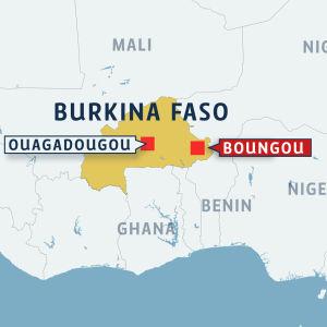 Karta där staden Boungou i Burkina Faso är utmärkt.