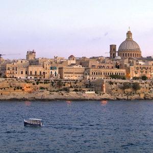 Maisemakuva Valettasta Maltalta.